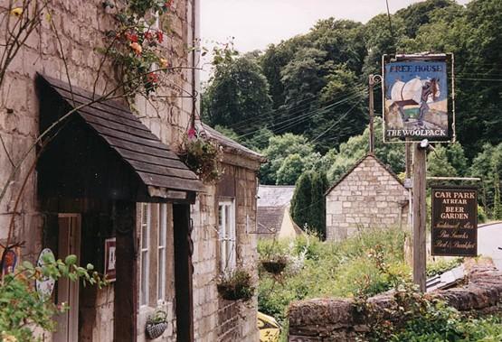 The Woolpack pub, Slad